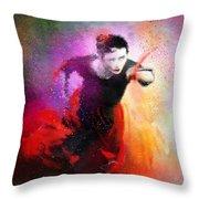 Flamencoscape 03 Throw Pillow
