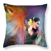 Flamencoscape 04 Throw Pillow