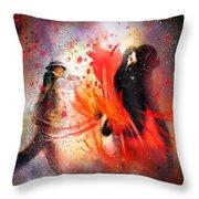 Flamencoscape 07 Throw Pillow