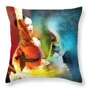 Flamencoscape 08 Throw Pillow