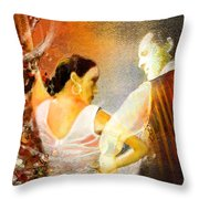 Flamencoscape 10 Throw Pillow