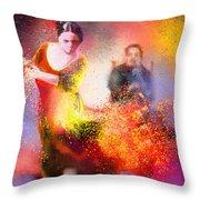 Flamencoscape 11 Throw Pillow