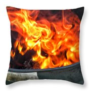 Flames 03 From The Firemen Series Throw Pillow