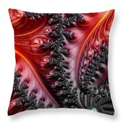 Flames - A Fractal Abstract Throw Pillow