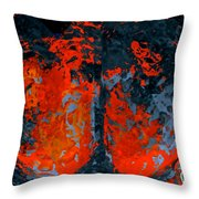 Flames And Grey Throw Pillow