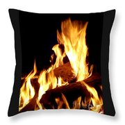 Flames In The Dark Throw Pillow
