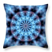 Flames Kaleidoscope 4 Throw Pillow