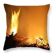 Flames Throw Pillow