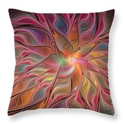 Flames Of Happiness Throw Pillow