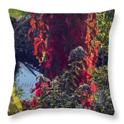Flaming Beauty Throw Pillow