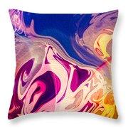 Flaming Colors Throw Pillow