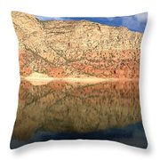 Flaming  Gorge Reflections Throw Pillow