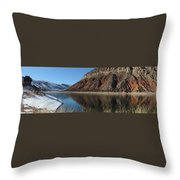 Flaming Gorge Winter Throw Pillow