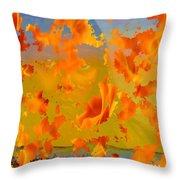 Flaming Indian Girl Sunset Throw Pillow