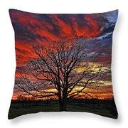 Flaming Oak Sunrise Throw Pillow