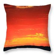 Flaming Ocean Throw Pillow