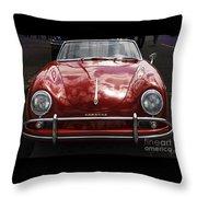 Flaming Red Porsche Throw Pillow