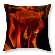 Flaming Rose Throw Pillow