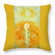 Flaming Sword Throw Pillow