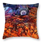 Flaming Vette 2 Throw Pillow