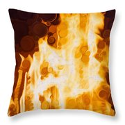 Flaming Waters Throw Pillow