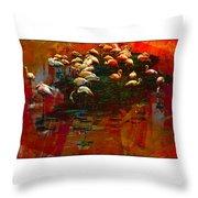 Flamingo Colours Throw Pillow