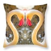 Flamingo Double Vision #1 Throw Pillow
