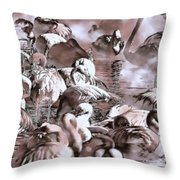 Flamingo Dreams 2 Throw Pillow by Donna Proctor