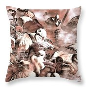 Flamingo Dreams Throw Pillow by Donna Proctor