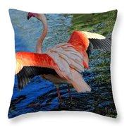 Flamingo Flight Throw Pillow
