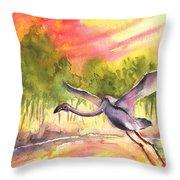 Flamingo In Alcazar De San Juan Throw Pillow