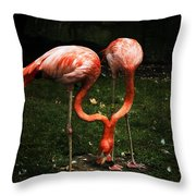 Flamingo Mirrored Throw Pillow