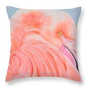 Male Flamingo Throw Pillow