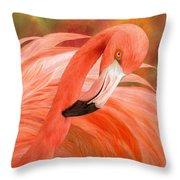 Flamingo - Spirit Of Balance Throw Pillow