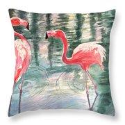Flamingo Time Throw Pillow