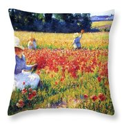 Flanders Fields Where Soldiers Sleep And Poppies Grow Throw Pillow