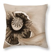 Flanders Poppy Throw Pillow