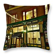 Flannerys Pub Throw Pillow by Frozen in Time Fine Art Photography