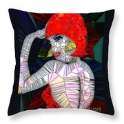 Flapper Girl In Glass Throw Pillow