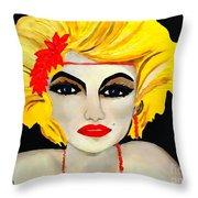 Flapper Girl  Throw Pillow