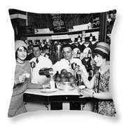 Flappers, 1928 Throw Pillow