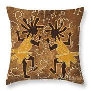 Flappers Throw Pillow