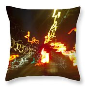 Flare Of Lights Throw Pillow by Charmian Vistaunet