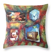 Flash Generation By Alfredo Garcia Throw Pillow