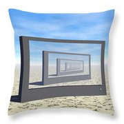 Flat Screen Desert Scene Throw Pillow