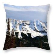 Flat Top Mountain Throw Pillow