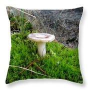 Flat Topped Mushroom Throw Pillow