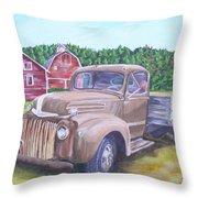 Flathead Monster Truck Throw Pillow