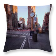 Flatiron Area In Motion Throw Pillow by John Farnan
