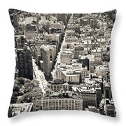 Flatiron Building - New York City Throw Pillow